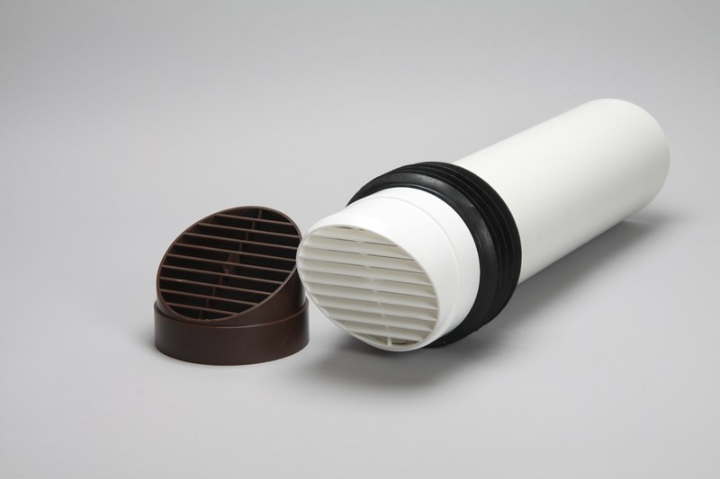 High rise vent kit with vent grille 100mm ducting