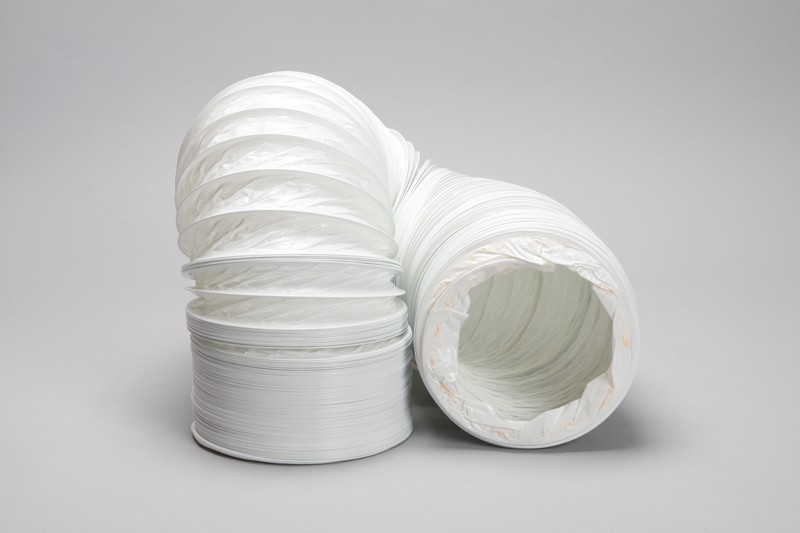 15 metre round flexible pvc hose 152mm diameter