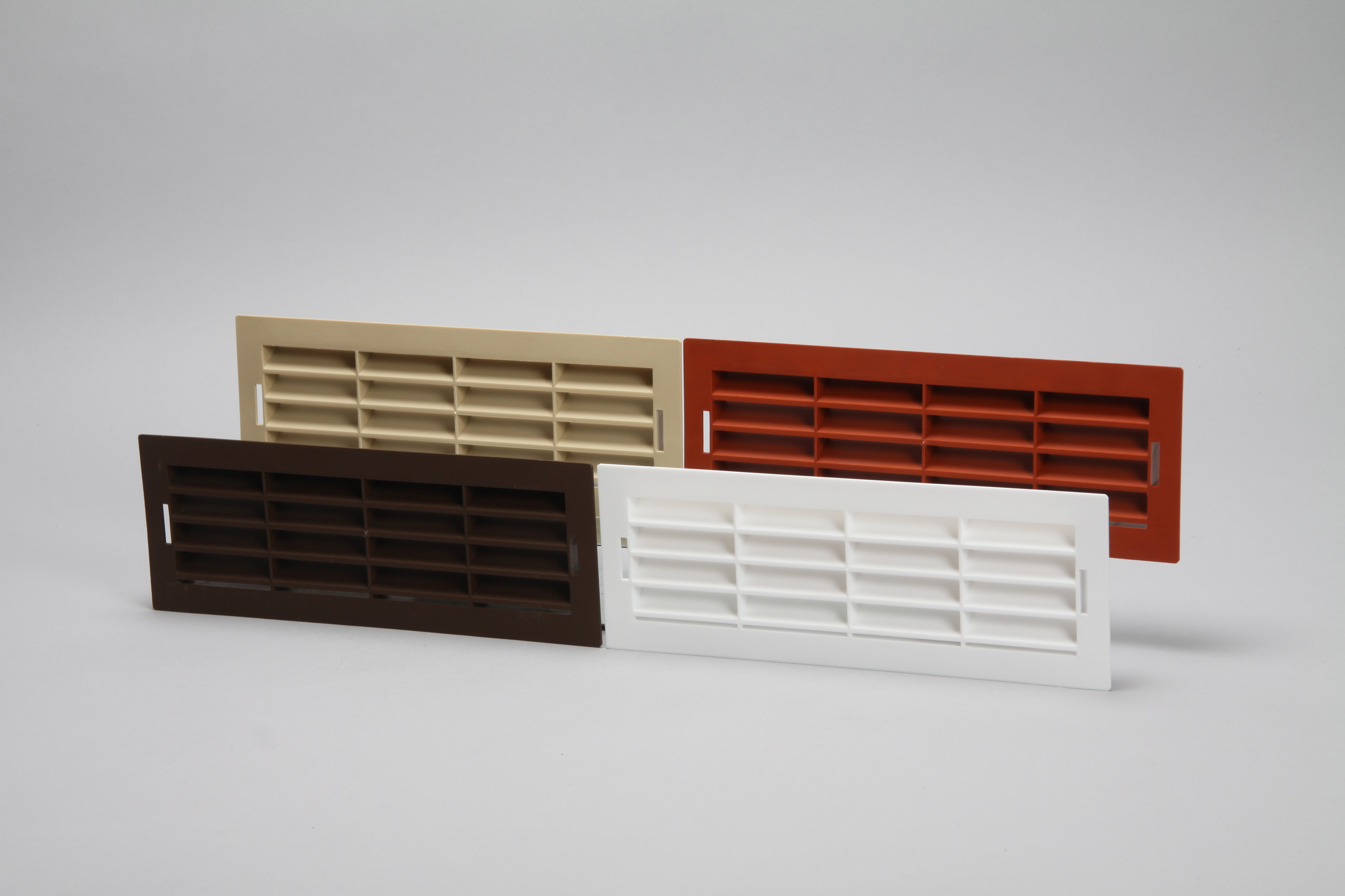 Air brick vent grille edged for flat channel ducting