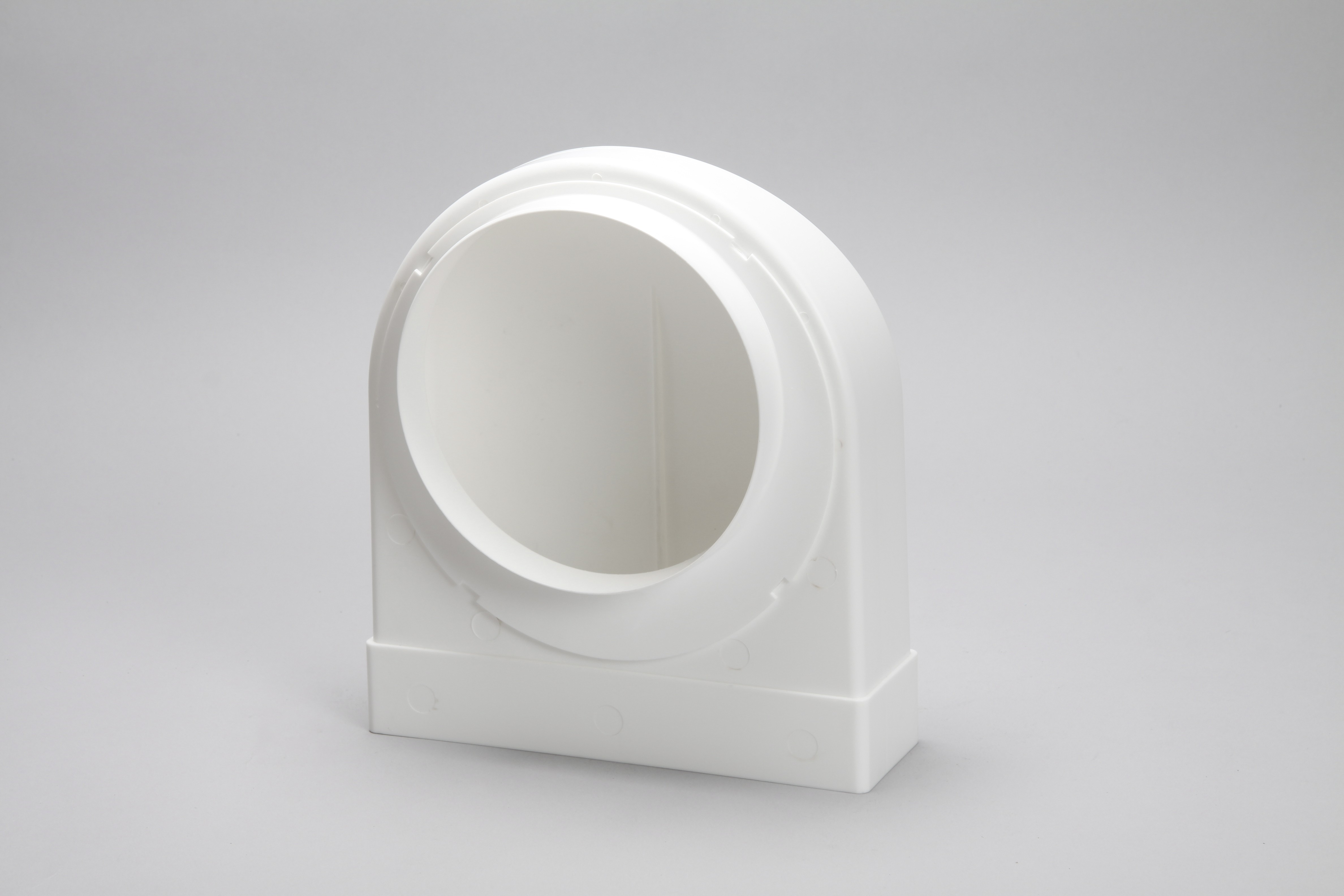 150mm round to rectangular 204mm x 60mm 90 degree bend