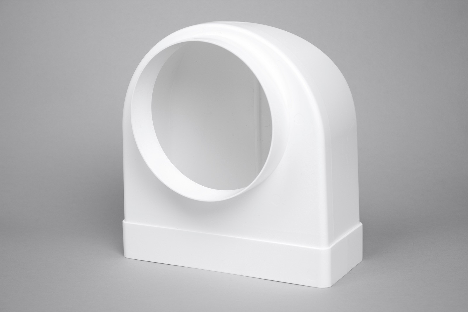 220mm x 90mm flat to 150mm round 90 degree bend