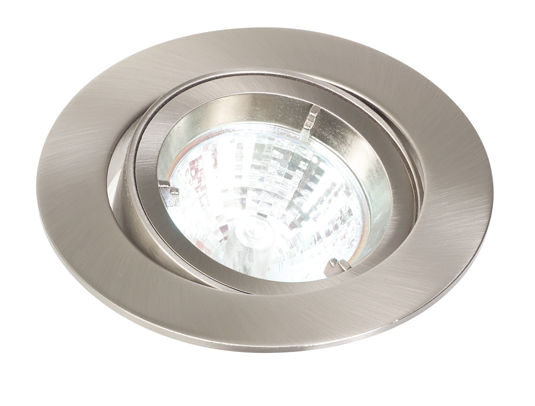 Ceiling downlight mains cast tilt white