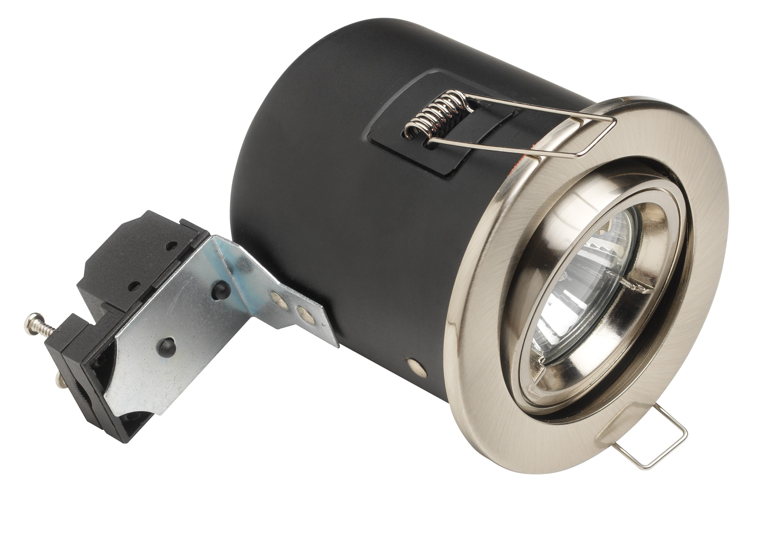 Fire rated downlight 12volt  tilt MR16 brass