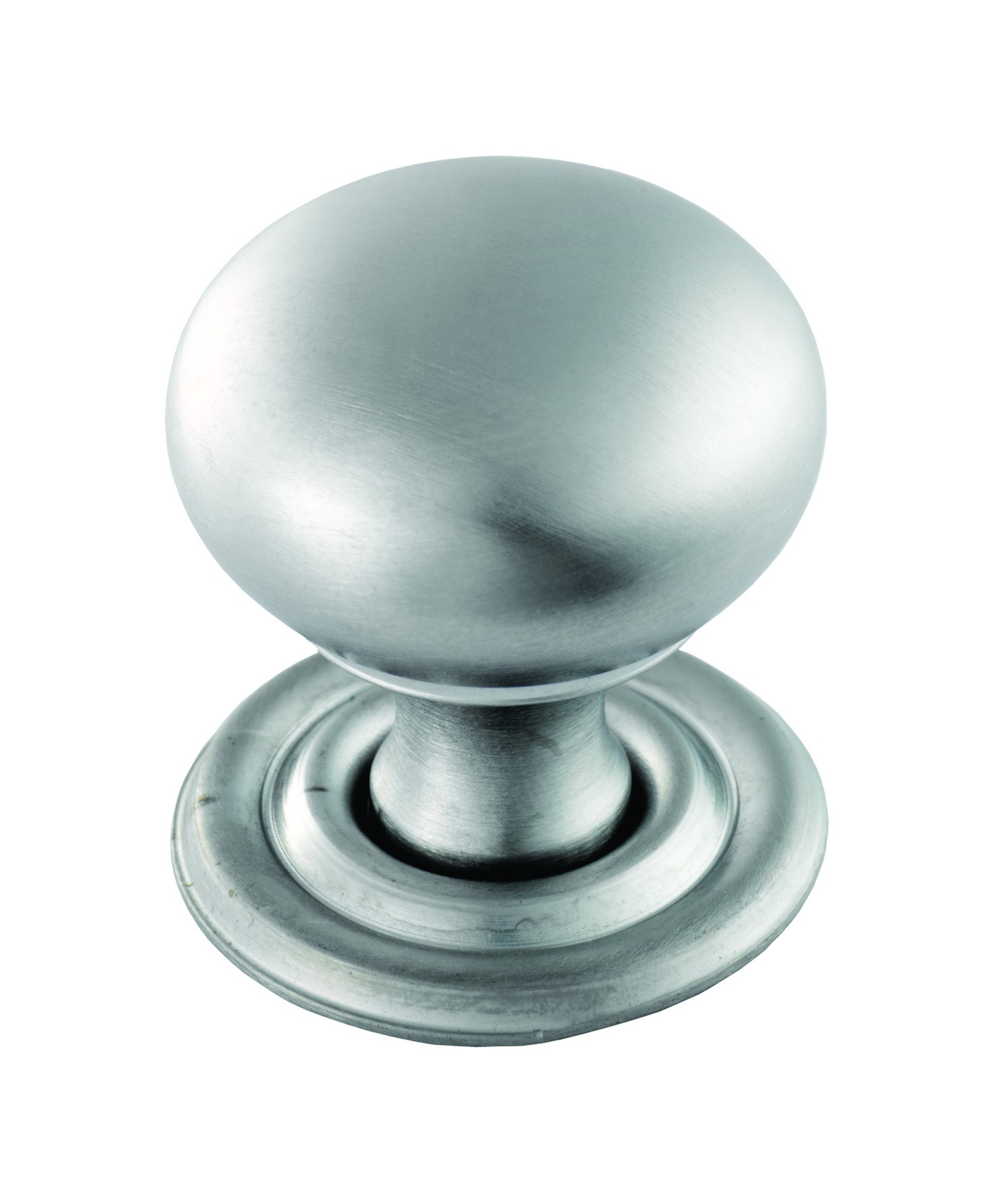 Hollow victorian knob 32mm diameter satin chrome