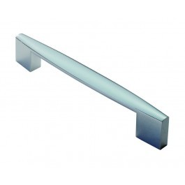 Tapered end handle 160mm centres polished chrome