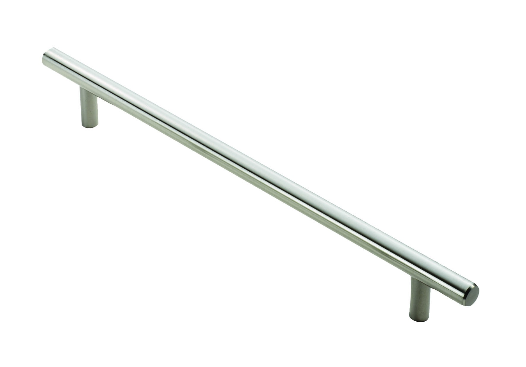 T bar handle 128mm centres satin nickel