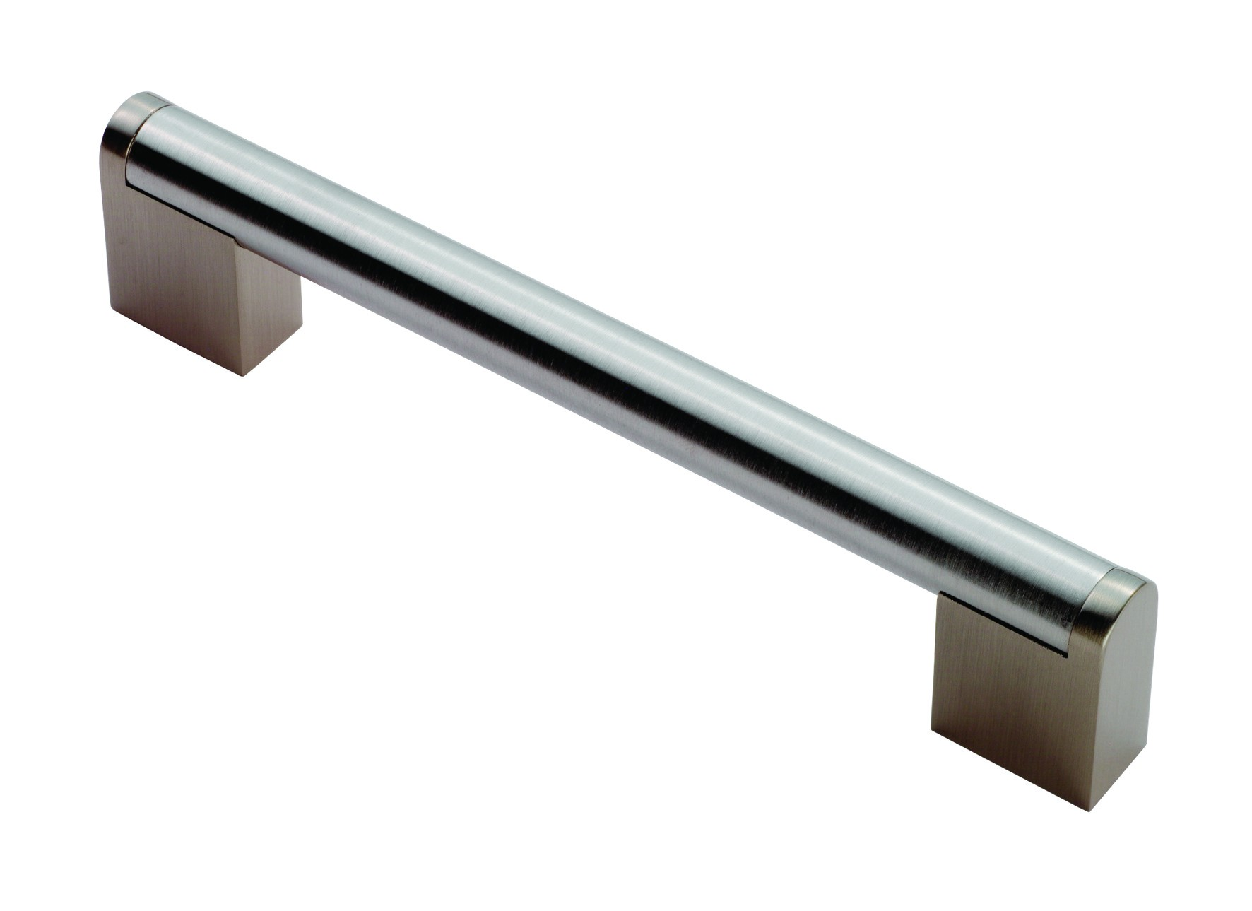 Boss bar D handle 14mm satin nickel stainless steel