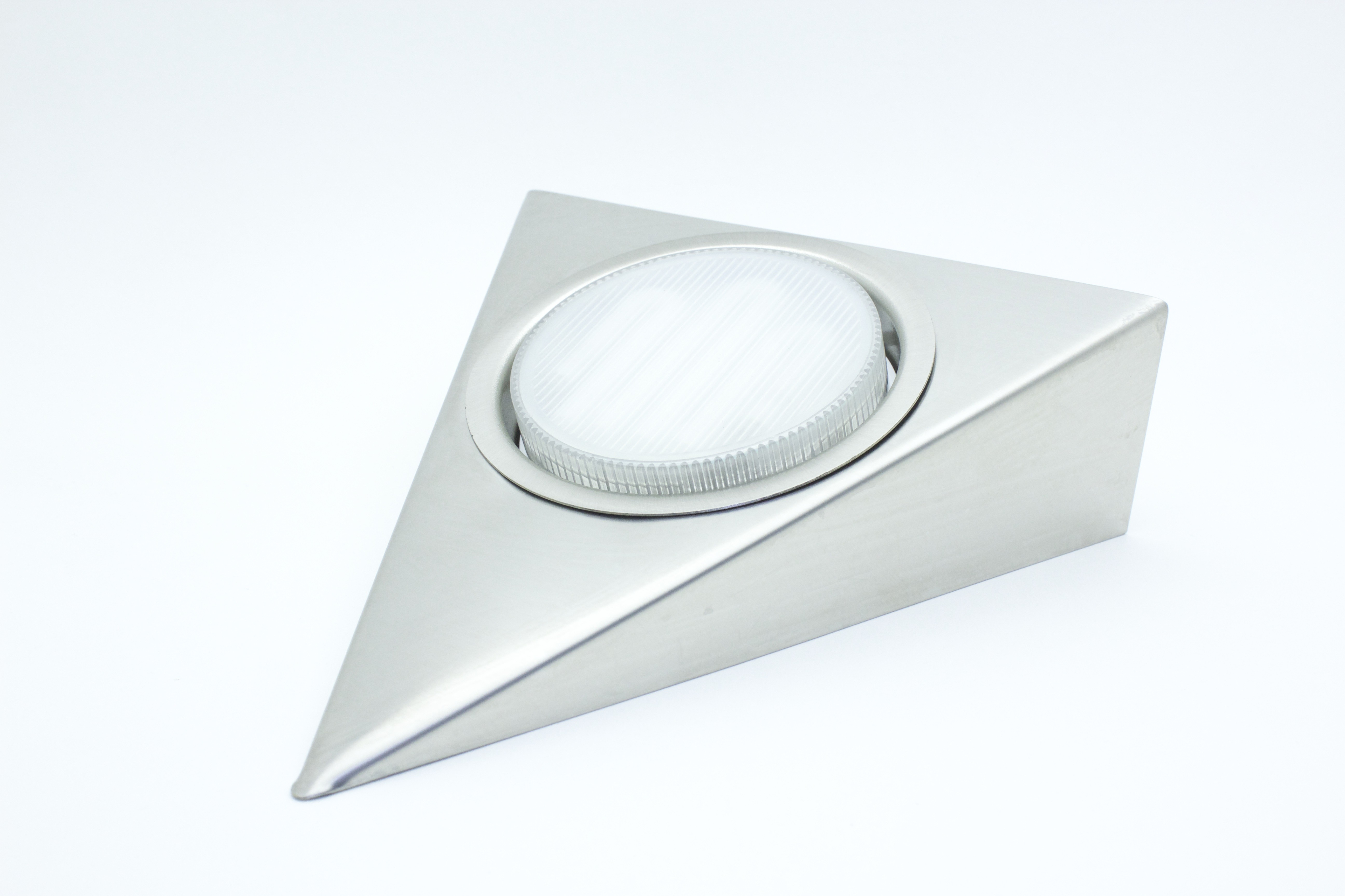 Triangular GX53 low energy fitting stainless steel