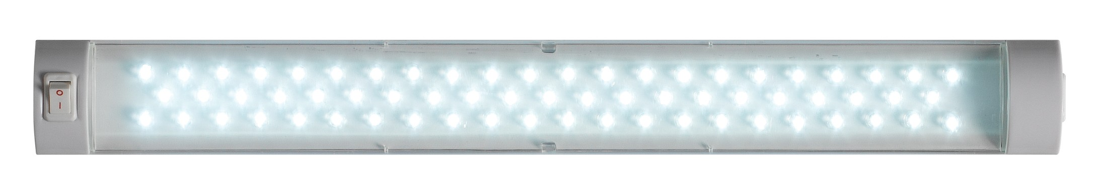 LED switched strip light with integral driver white