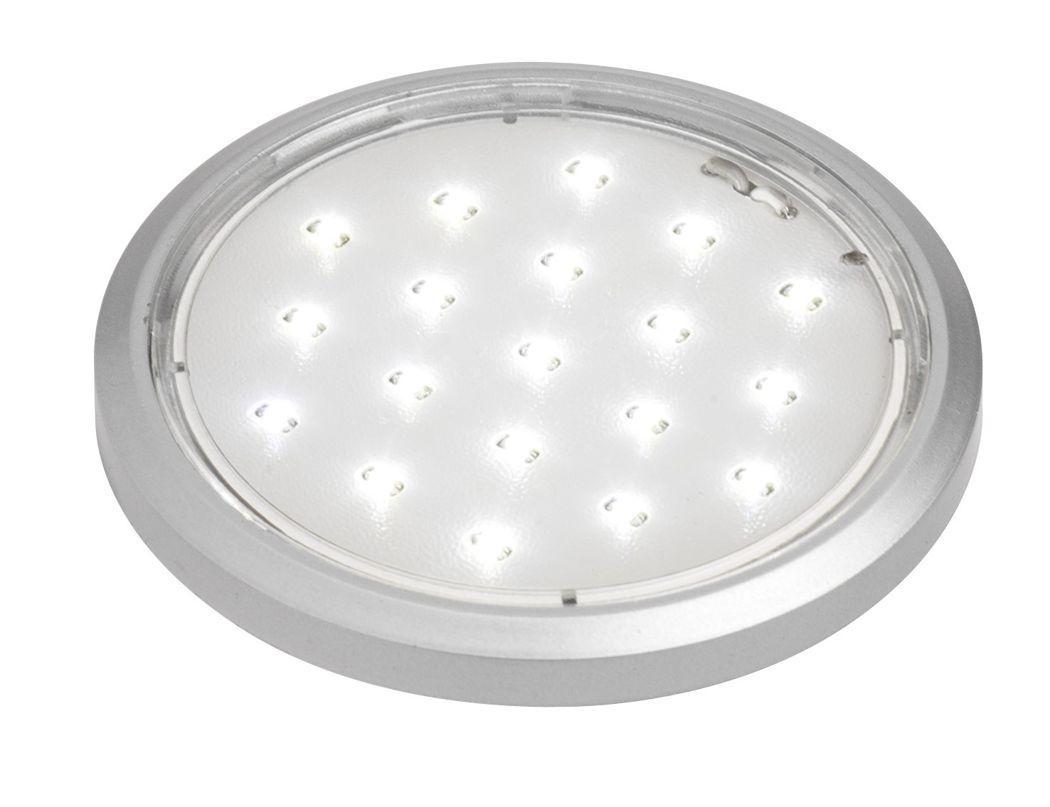 LED round downlight 19 LED warm white 12volt 1.4watt silver