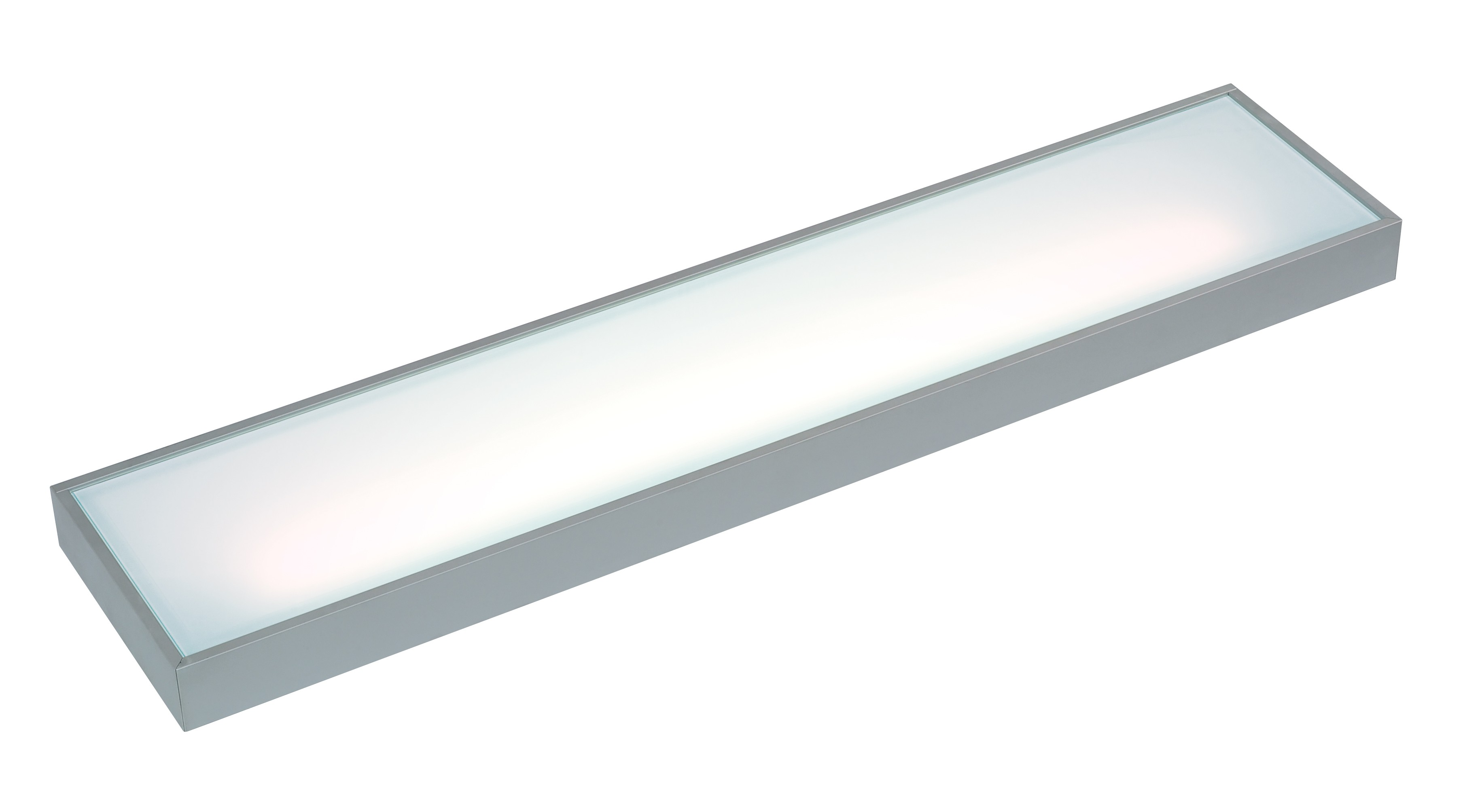 Shelf light major 8watt length 450mm finish alu/glass