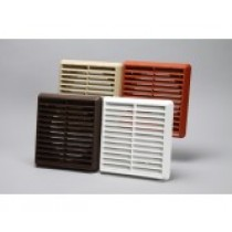 Vent grille louvred round spigot 150mm