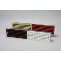 Air brick vent grille edged in holder 204mm x 60mm ducting