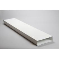 Rectangular flat channel 204mm x 60mm ducting