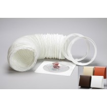 1 metre round hose kit cowled vent grille 125mm