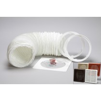 1 metre round hose kit louvred vent grille 150mm