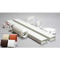 3 metre 110mm x 54mm ducting kit cowled vent
