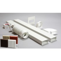 3 metre 110mm x 54mm ducting kit louvred vent