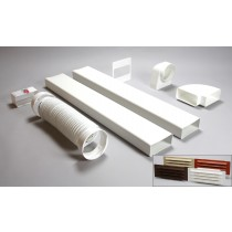 3 metre 150mm x 70mm ducting kit air brick vent