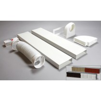 3 metre 204mm x 60mm ducting kit air brick vent