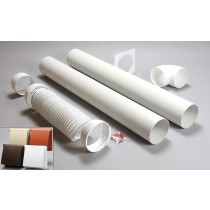 3 metre round ducting kit cowled vent 125mm