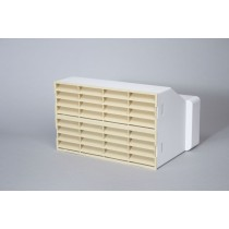 220mm x 90mm double air brick vent grille adaptor with grilles