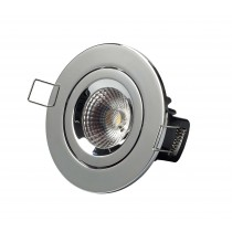 Elan LED COB tilt fire rated downlight round bezel