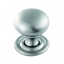 Hollow victorian knob satin chrome