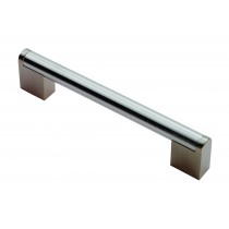 Boss bar D handle 14mm dia 608mm centres satin nickel