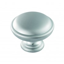 Shaker style knob matt satin chrome