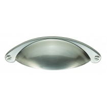 Traditional cup handle satin nickel