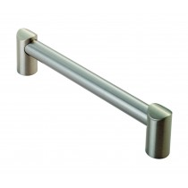 Round bar D handle 160mm centres satin nickel