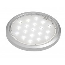 LED round downlight 19 LEDS 12volt 1.4watt finish silver