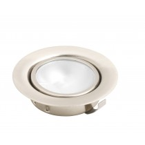 Round recessed downlight 20watt 12volt chrome