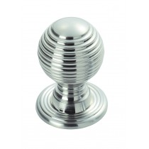 Queen Anne knob satin chrome