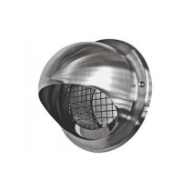 SS121 stainless steel bullnosed large mesh vent grille 125mm