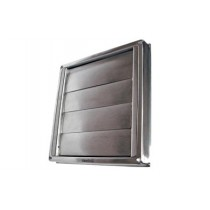 SS122 stainless steel gravity vent grille 125mm